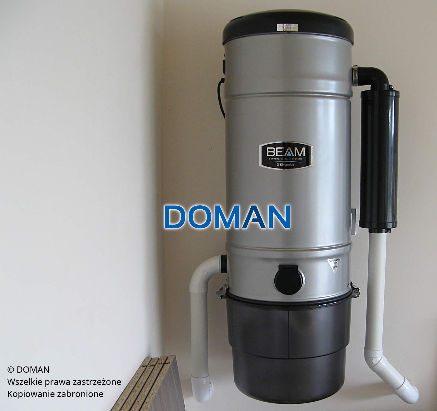 Odkurzacz centralny Beam -gotowy montaż wdomu klienta